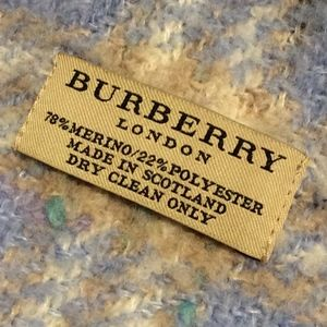 Burberry Accessories - Burberry Baby Blue Wool Scarf
